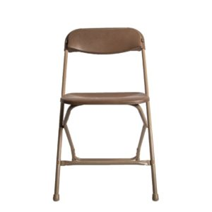 Brown Plastic Folding Chairs