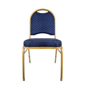 Blue Padded Chair With Gold Trim
