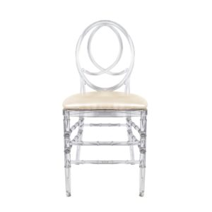 Clear Round Back Chair